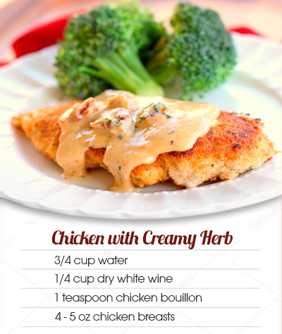 Recipes Chicken with Creamy Herb